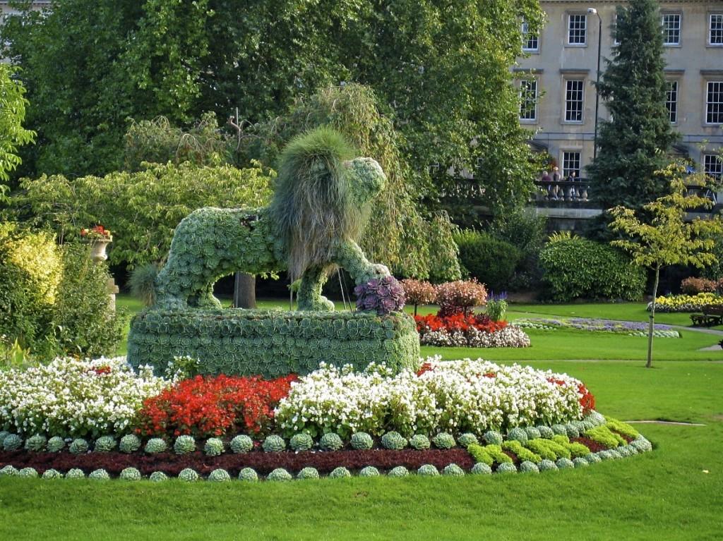 Lion Topiary At Parade Gardens Bath England