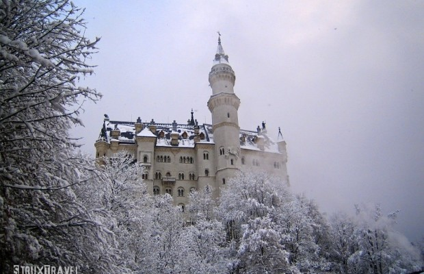 """Neuschwanstein Castle, Germany— Commissioned by """"Mad"""" King Ludwig II, this 19th century Romanesque Revival castle is prominently perched in the Bavarian Alps near Fussen, Germany. Walt Disney famously used the castle as inspiration for his Sleeping Beauty Castle. Over 1.3 million tourists visit Neuschwanstein annually, making it one of the..."""